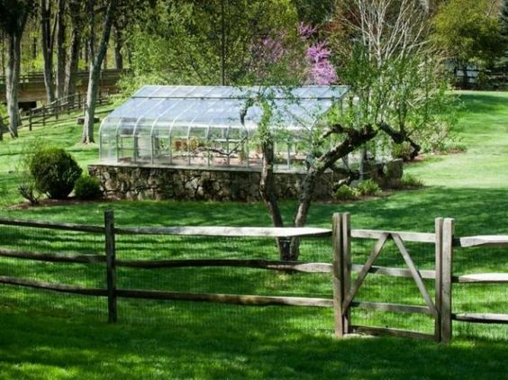 Love love LOVE this glass greenhouse.