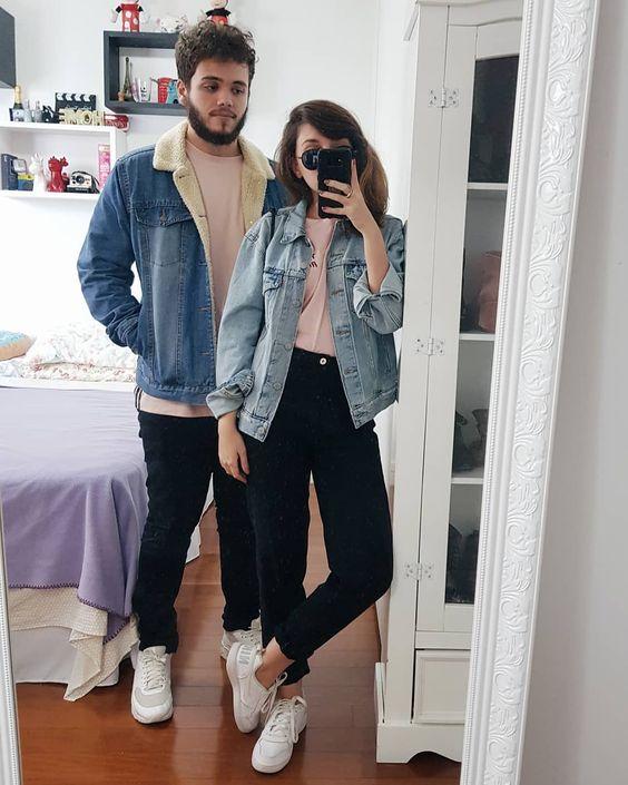 Yasmim Fassbinder, mom jeans, look em dupla, look em casal, jaqueta jeans, #7lookschallenge
