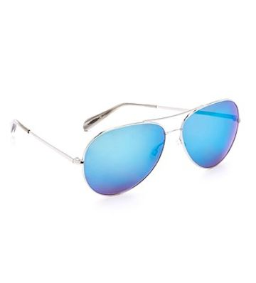 sleek blue lens aviators