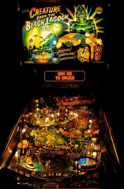 One of the all time great pinball machines - Creature from the Black Lagoon (Bally)