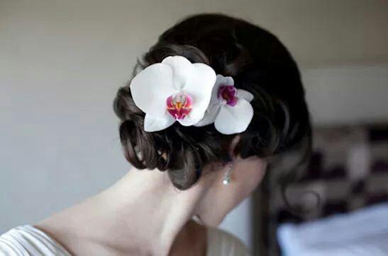 Coque com orquídea