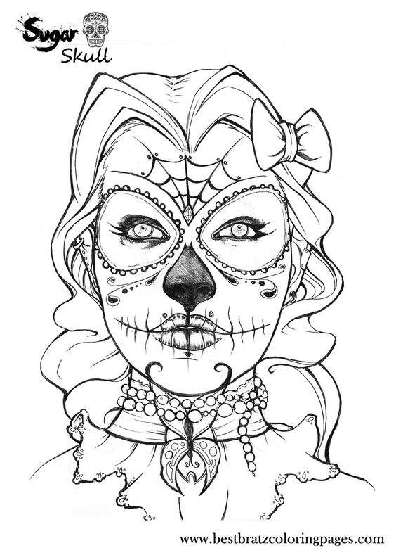 calavera catrina coloring pages - photo#4