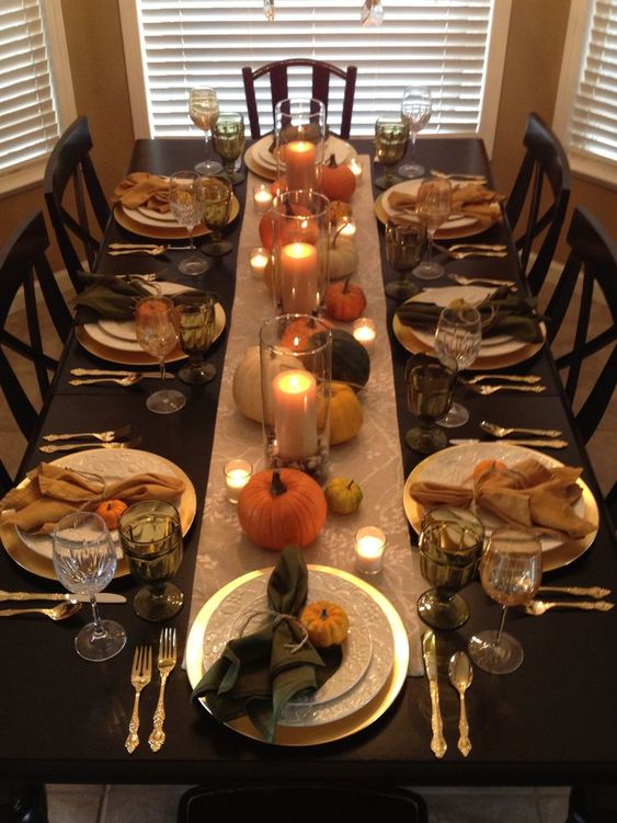 My own Thanksgiving table this year, using Pinterest as my inspiration.