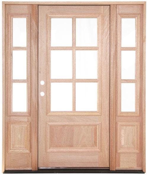 6 0 X 8 0 Rita Arched Exterior Wrought Iron Door Mahogany Exterior Doors Arched Exterior Doors Wood Front Doors