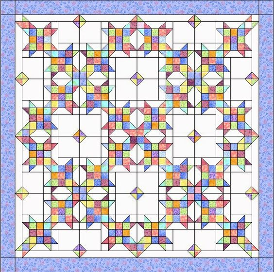 Setting for Sister s Choice quilt. I d place 4 applique blocks. Bonnie Hunter Pinterest ...