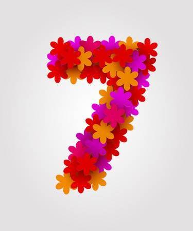 Zahl - Nummer - Number 7