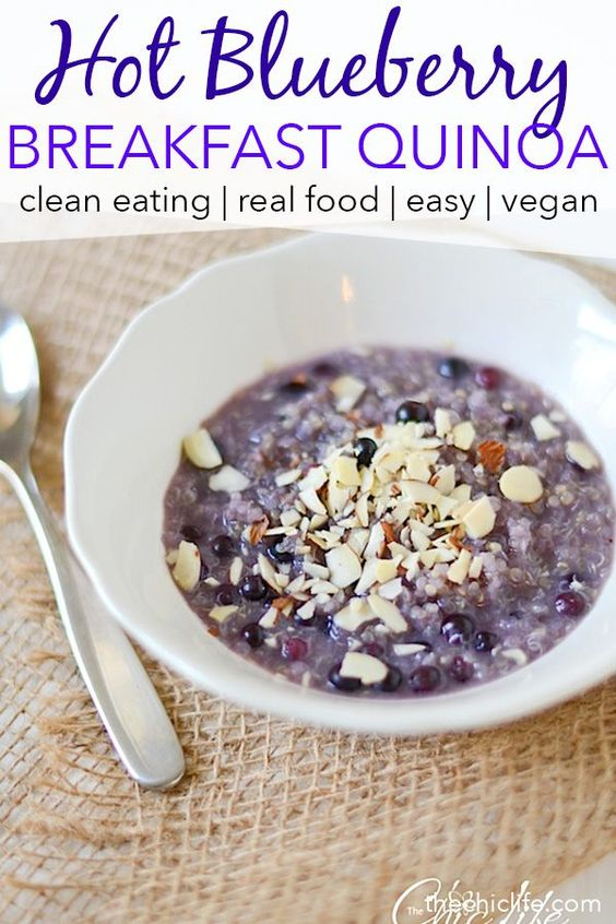 Hot Blueberry-Honey Breakfast Quinoa
