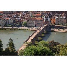 Alte Brücke, Neckar, Heidelberg, Fototapete, Merian, Fotograf: A. F. Selbach