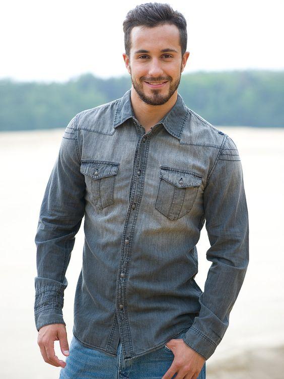 джинсовая рубашка мужская - Поиск в Google