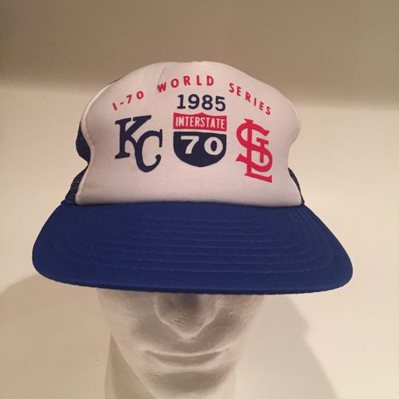 1985 i-70 world series kc royals stl #Cards hat mesh snapback one size adjustable from $53.99