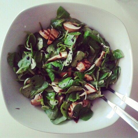 Wenn das mal nicht gesund ist... Feldsalat mit champignons