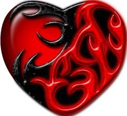Tribal Heart in Red