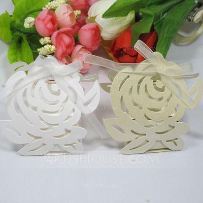 Favor Holders - $9.99 - Rose Design Favor Boxes With Ribbons (Set of 12) (050028641) http://jjshouse.com/Rose-Design-Favor-Boxes-With-Ribbons-Set-Of-12-050028641-g28641?pos=related_products_1