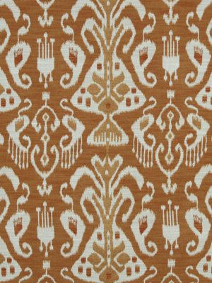 Orange Ikat Upholstery Fabric - Ikat Upholstery Yardage
