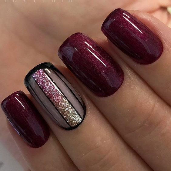 30 Stunning Burgundy Nails Designs That Will Conquer Your Heart Fall Gel Nails Burgundy Nails Purple Nails