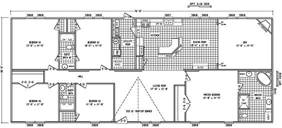 Double Wide Floor Plans 4 Bedroom Google Search Dreamin 39 Pinterest Google Floor Plans