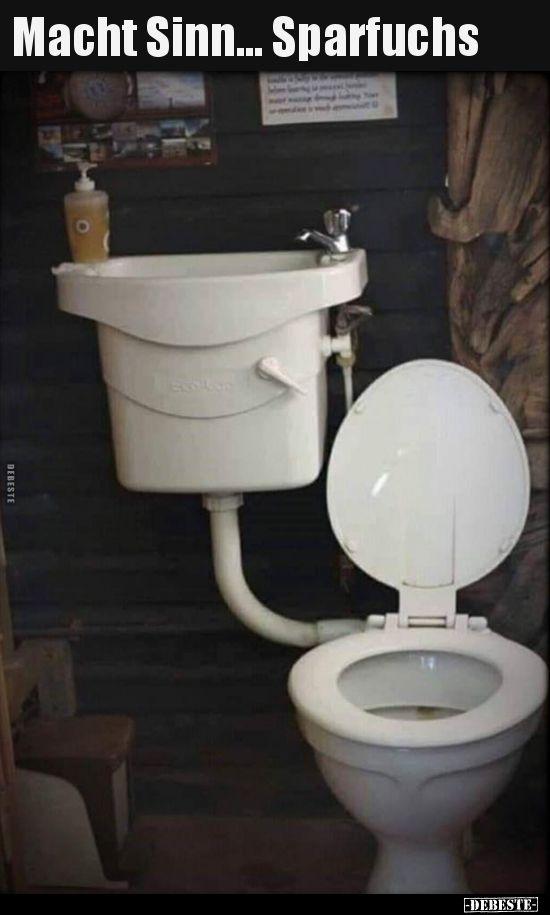 Macht Sinn Sparfuchs Lustige Bilder Spruche Witze Echt Lustig Rustikale Bader Kleines Haus Badezimmer Badezimmer Diy