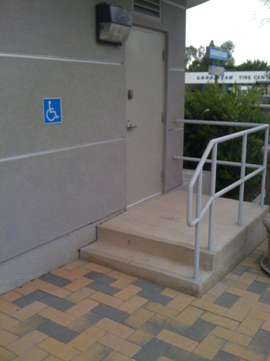 Handicap Accessible Stairs I Think A Wheelchair Could Not