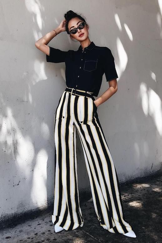11 Pairs of Striped Trousers To Live in This Fall