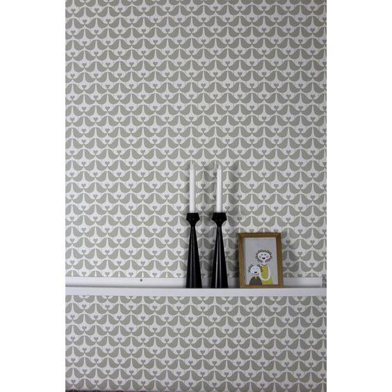 Wallpaper . Lovebird - Grey