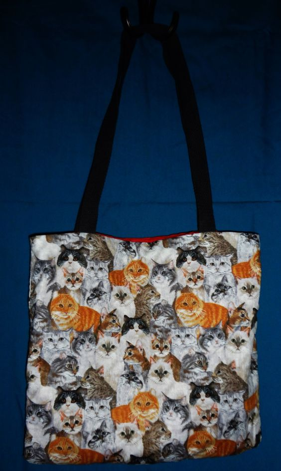 Cat Tote Bag by TotesAmazingTotes on Etsy