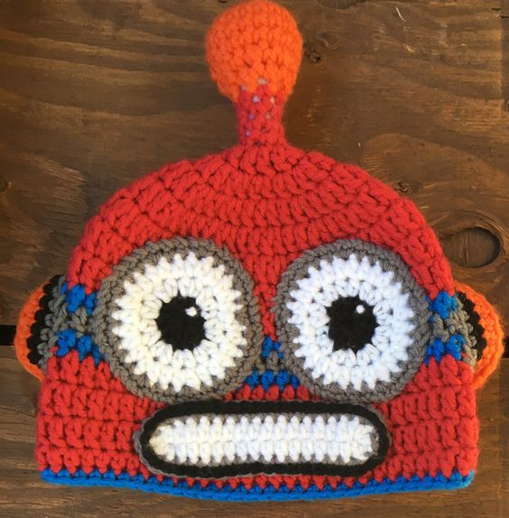 Baby Halloween Costume, Robot Hat, Baby Halloween Hat, Newborn Halloween Hat, Baby Halloween Costume, Infant Costume by forgetmenotstudio on Etsy