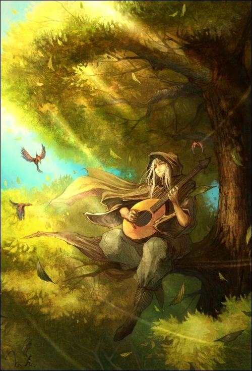 Timberling/Piper The High Druid loved the music of the trees, and none could play them like he did.: