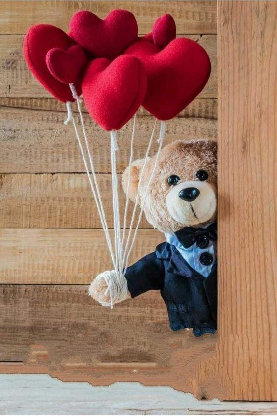 Balloons for you love #teddybear