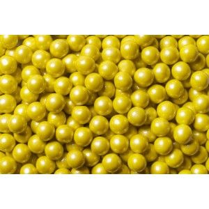 SweetWorks Candy Beads - Chocolate - Pearl - Yellow - 100 g Golda's Kitchen