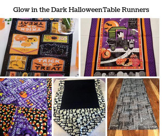 Glow in the Dark Halloween Table Runners