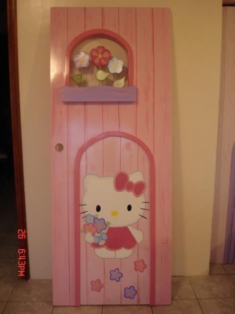 puerta doble hello kity fabricada por fantasykolors , interesados  esccribir a fantasykolors@hotmail.com