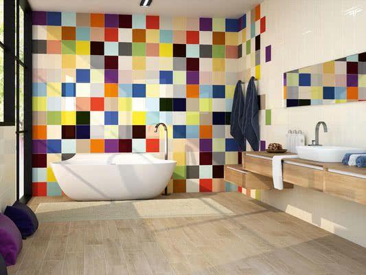 Colors Toilet Design Tiles Baths Interior