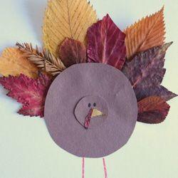 Thanksgiving leaf turkey