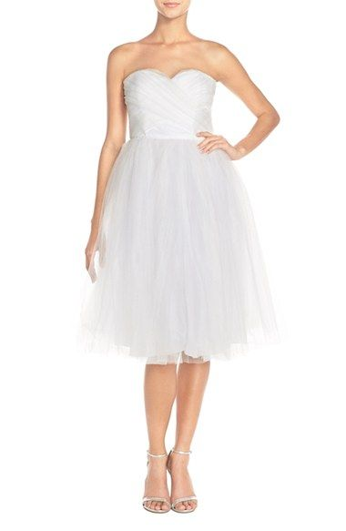 Donna Morgan 'Kenna' Strapless Tulle Fit & Flare Dress