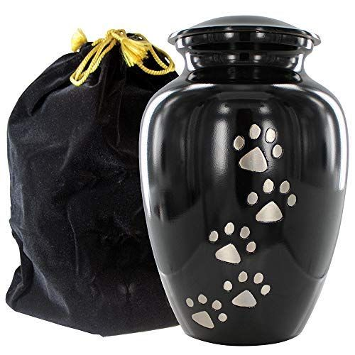 Always Faithful Small Black Pet Urns For Dogs Ashes And Cats Too Find Peace And Comfort With This Quality Dog Or Cat Pet Urn 6 Inche Pet Urns Pets Dog Urns
