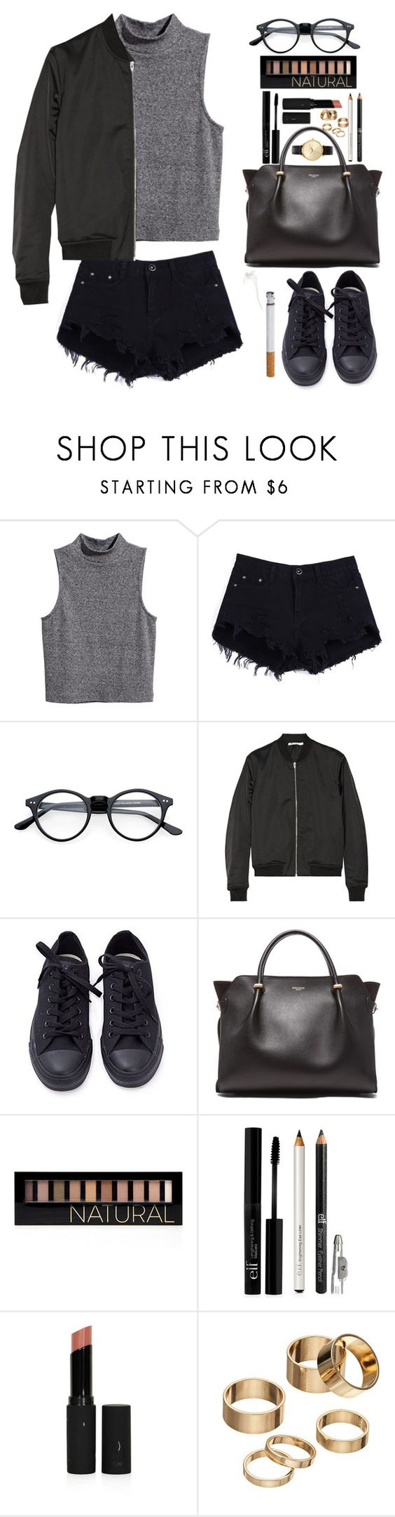 """""""09.26.16"""" by lea-maire ❤ liked on Polyvore featuring H&M, T By Alexander Wang, Converse, Nina Ricci, Forever 21, Topshop, Apt. 9 and Nixon"""