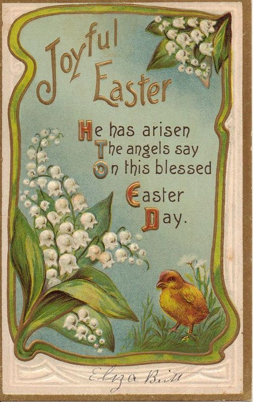 postcard.quenalbertini: Vintage Easter Card | Etsy: