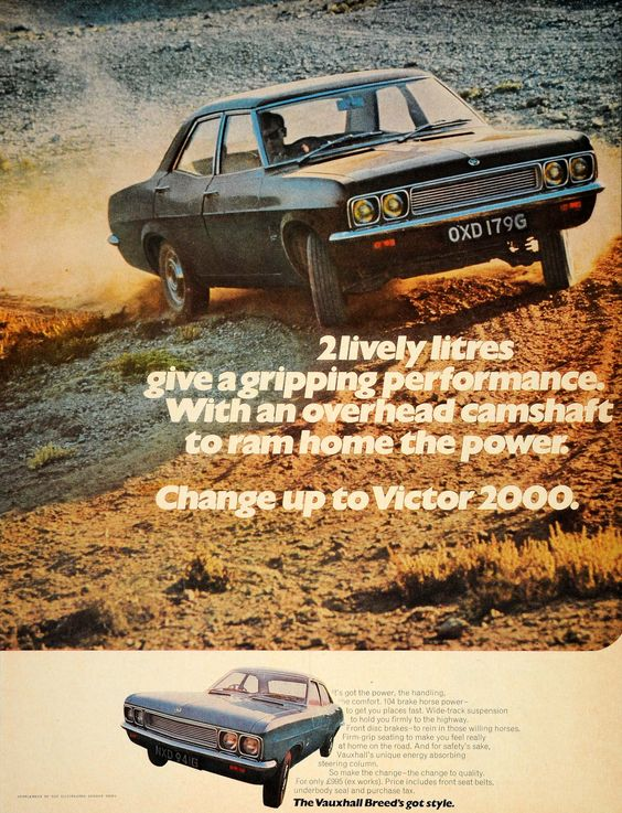 1969 Ad Vauxhall Victor 2000 British Car Automobile GM - ORIGINAL LN1