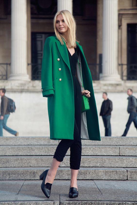 fashion style coat green black female | FASHION rules girls