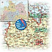 Bacher Postleitzahlenkarte Deutschland Nord Posterlandkarte