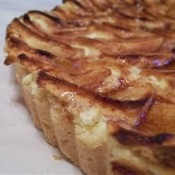 Layered apple tart or plum