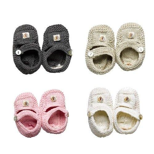 Gestrickte Baumwoll Baby Schuhe von Nurtured by Nature nur heute im Angebot - 07.08.2012