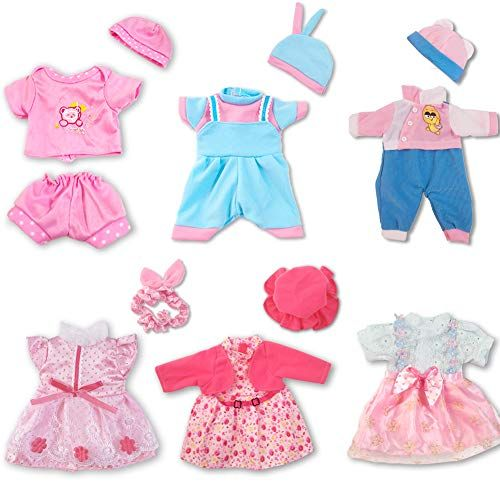 Artst Doll Clothes 12 Inch Baby Doll Clothes 6 Sets Include 4 Hats 1 Bowknot For 10 Inch Dolls 11 Inch Baby Dolls 12 Inch Baby Dolls In 2020 Baby Doll Clothes Doll Clothes Cute Baby Dolls
