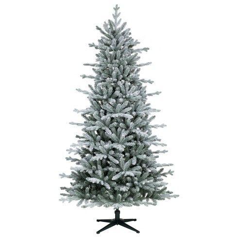 7ft Unlit Artificial Christmas Tree Flocked Balsam Fir Wondershop Christmas Tree Vintage Inspired Christmas Tree Artificial Christmas Tree