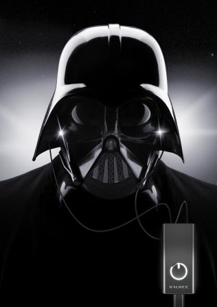 Das Erwachen der Macht - In Dir! Sei kein Vader... immer gut gelaunt mit Licht im Ohr.    Im Weltraum ist es bei -273 Grad Celsius eiskalt und die allgegenwärtige Finsternis wird nur von wenigen Sonnen erhellt.   Kein Wunder, dass man da mies drau