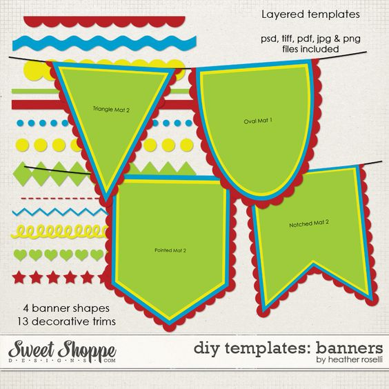 banner template banners and templates free on pinterest. Black Bedroom Furniture Sets. Home Design Ideas