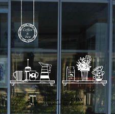 Cake Coffee Cafe Tea Shop Window Sign Stickers Decal Vinyl Business Decor