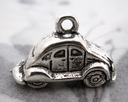 casted pewter automobile car charms 24x12x9mm - f4348