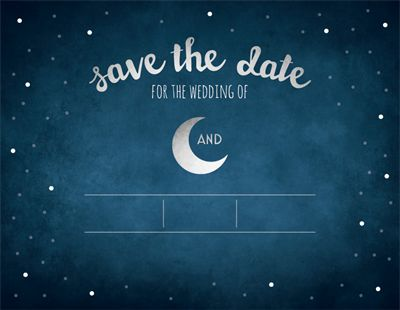 "Customize Your Horizontal Flat Save the Date Card - 5.5""x4"""