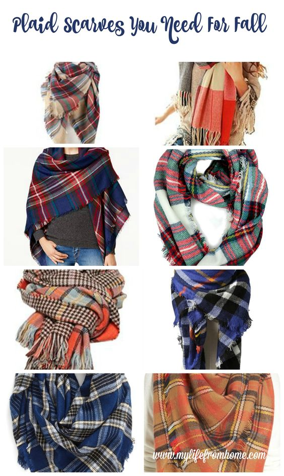 Plaid scarves are a must in anyone's fall and winter wardrobe- see the best plaid ones for the season- plaid- plaid scarves- women's fashion- fall wardrobe- scarf- wardrobe must haves